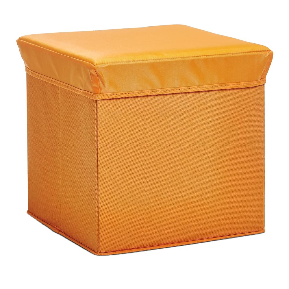 Zeller Storage/Seating Cube, Wood, Orange