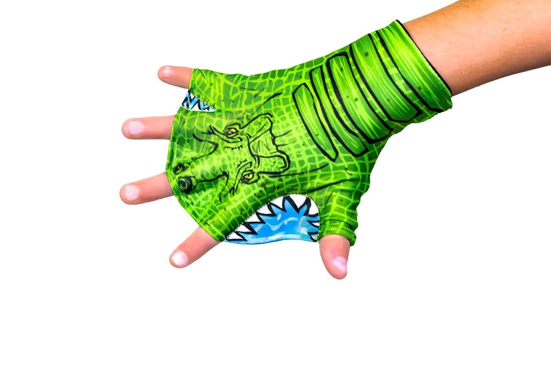 Kids Webbed Swimの手袋水着素材で、完璧Swimおもちゃのバスタブでも、プール、ビーチ、湖、または Small - Ages 2-5 Alligator B07G2X9BGF
