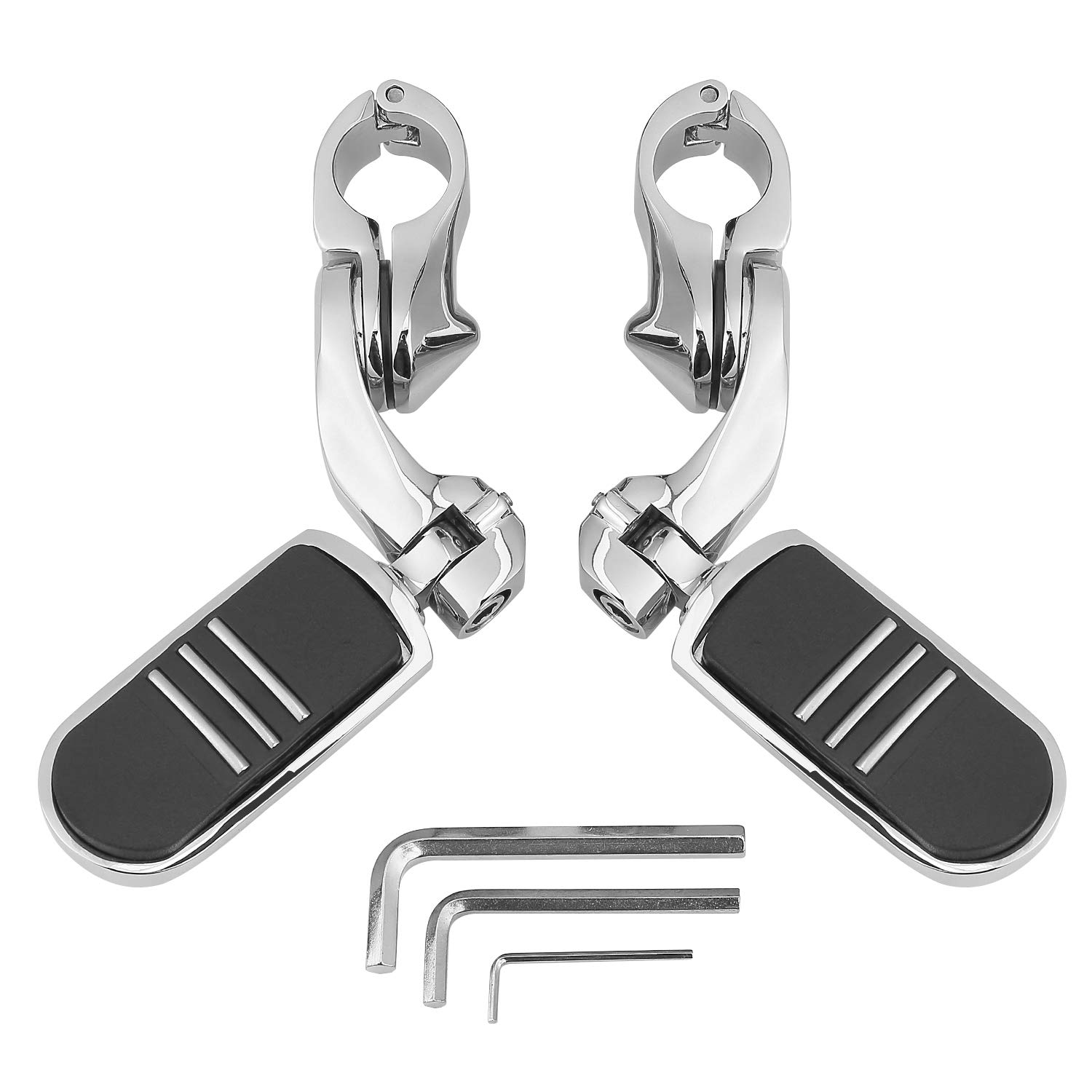 Highway Pegs Foot Pegs for Motorcycles 1.25//32mm Engine Guards Crash Bar Adjustable Foot Pegs for Street Touring Softail Dyna Sportster Highway Pegs