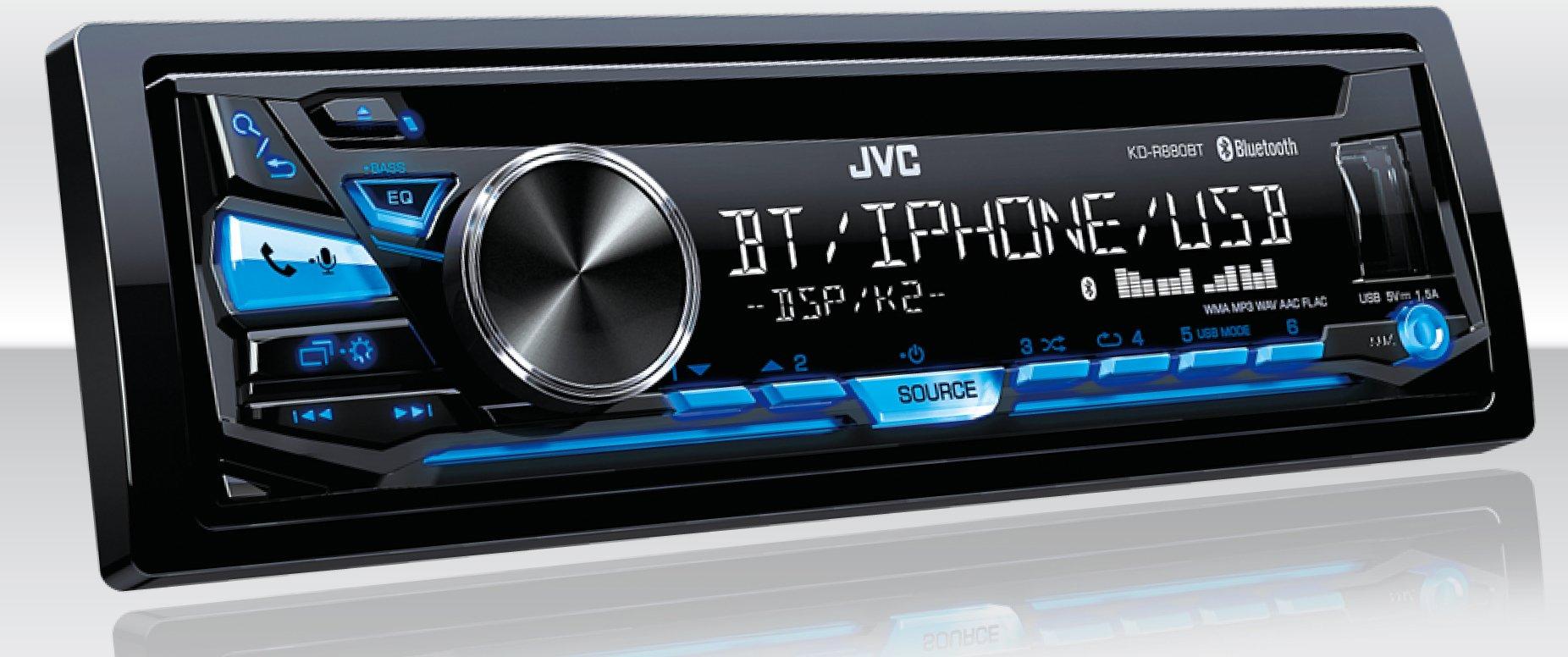 JVC In-Dash CD Receiver (KD-R880BT)