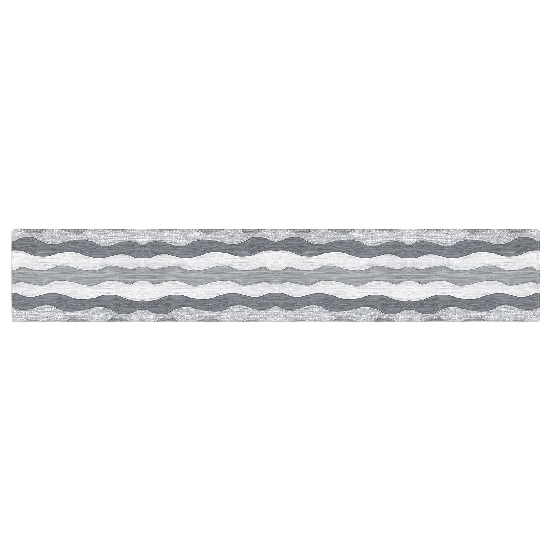16 x 180 KESS InHouse Empire Ruhl 51 Shades of Gray Gray White Table Runner