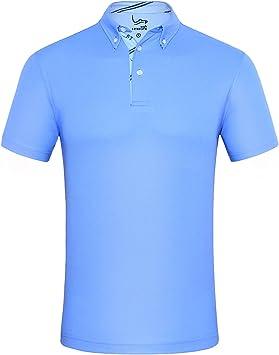 EAGEGOF Polo de Golf para Hombre Mangas Cortas Camisa Rendimiento ...