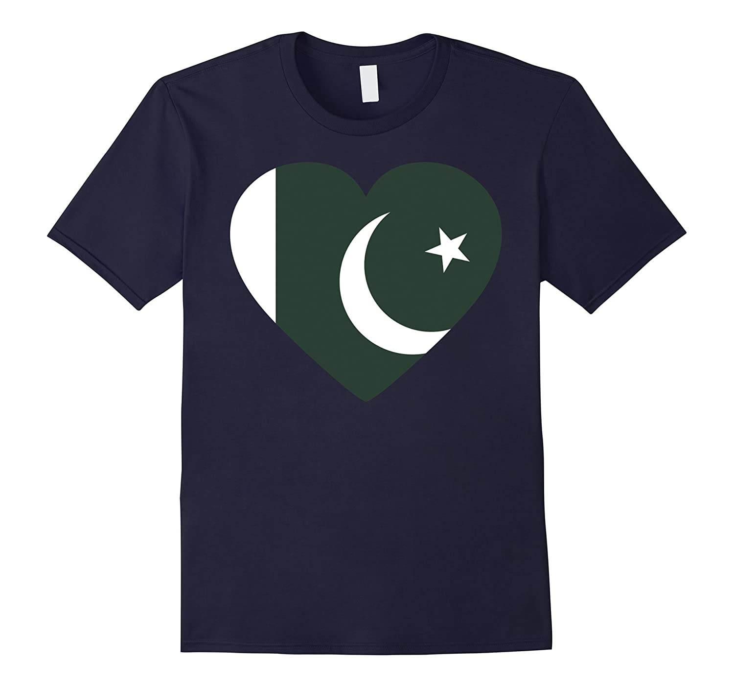 Flag of Pakistan T Shirt I love from Pakistan tee-TH