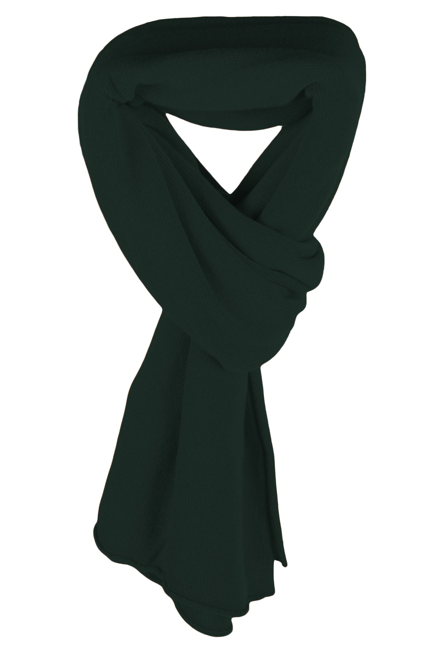 Ladies Ultrafine 100% Cashmere Scarf Wrap - Dark Green - made in Scotland by Love Cashmere RRP $400 by Love Cashmere (Image #1)