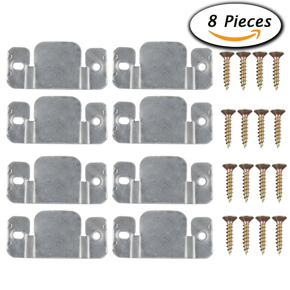 Paxcoo 8 pcs metal sectional sofa interlocking furniture for Sofa connectors