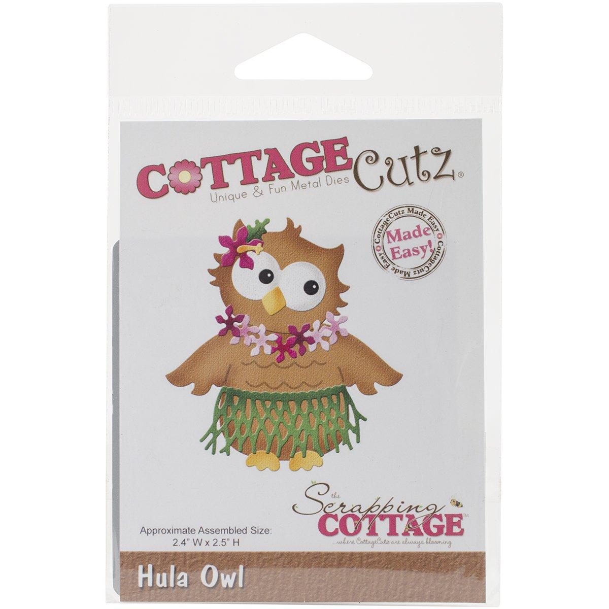 CottageCutz Die, Hula Owl, 2.4 by 2.5 by CottageCutz B00YDNGBTO