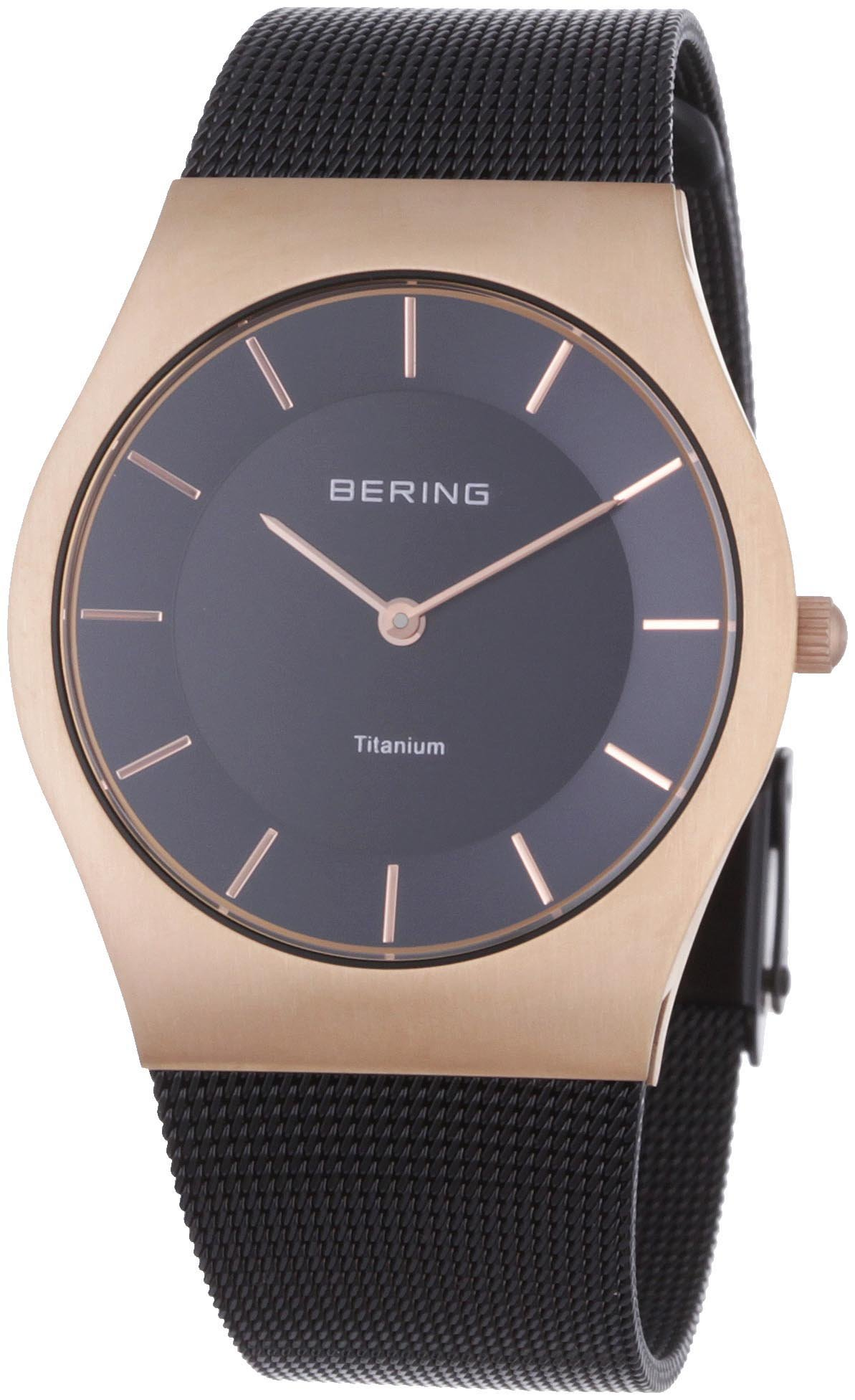 BERING Time 11935-262 Unisex Classic Collection Watch with Stainless-Steel Strap and scratch resistent sapphire crystal. Designed in Denmark