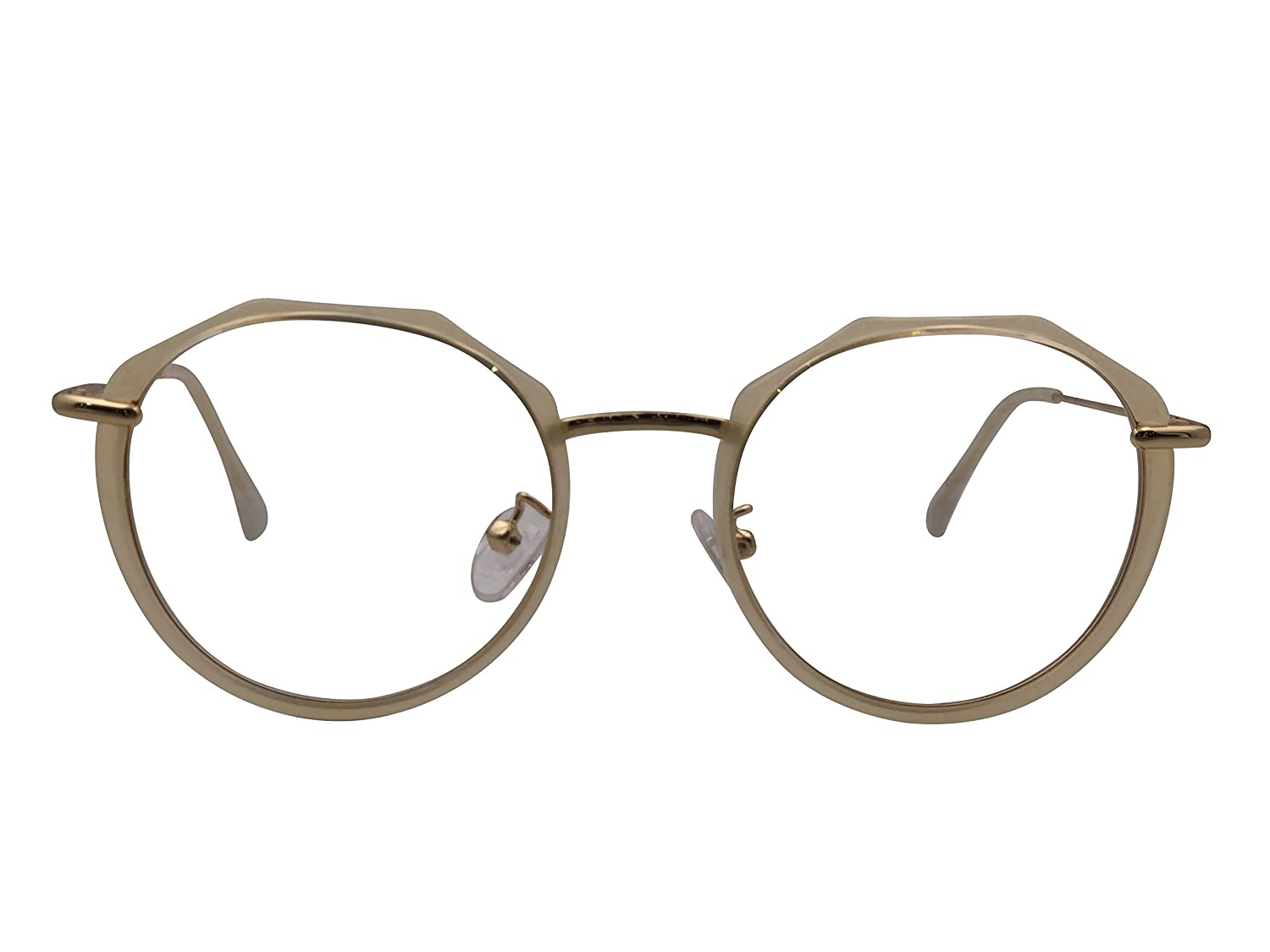 a6ac7880a679 XYAS Round Fashion TR90 Korean Style Women Glasses Frames popular 1616  (Amber)  Amazon.co.uk  Clothing