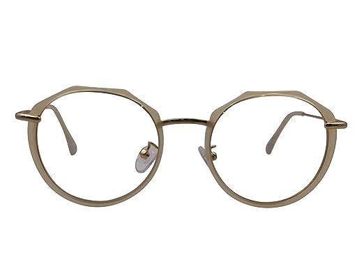 b3eb2ecc7be XYAS Round Fashion TR90 Korean Style Women Glasses Frames popular 1616  (Amber)  Amazon.co.uk  Clothing