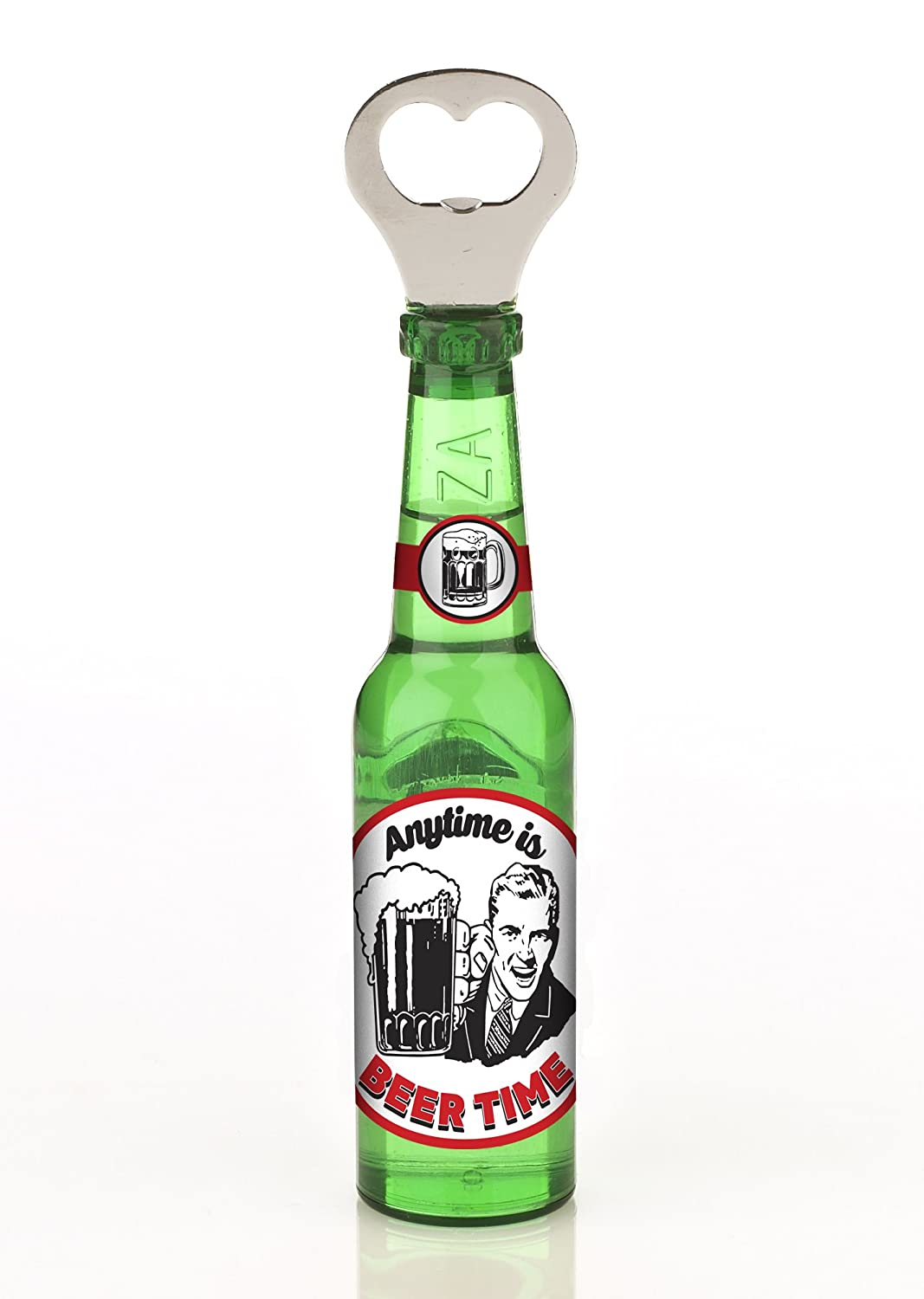 Boxer Stainless Steel Its Beer Oclock Magnetic Beer Bottle Shaped Openers Silver