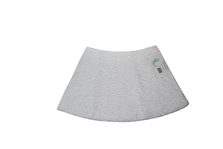 Cazsplash Luxury Quadrant Mini Curved Shower Mat, Microfibre, White, 70 x 40 x 2.5 cm 706502080211