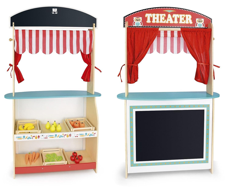 Marktstand Kinder - Leomark Kleiner Kaufladen Puppentheater