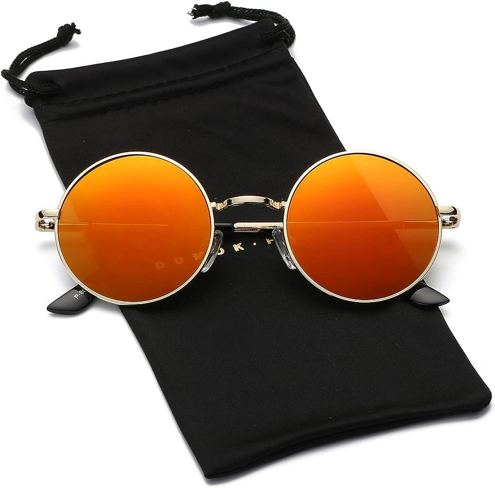 DUMOK DSR004 - Gafas de sol redondas, polarizadas, diseño ...