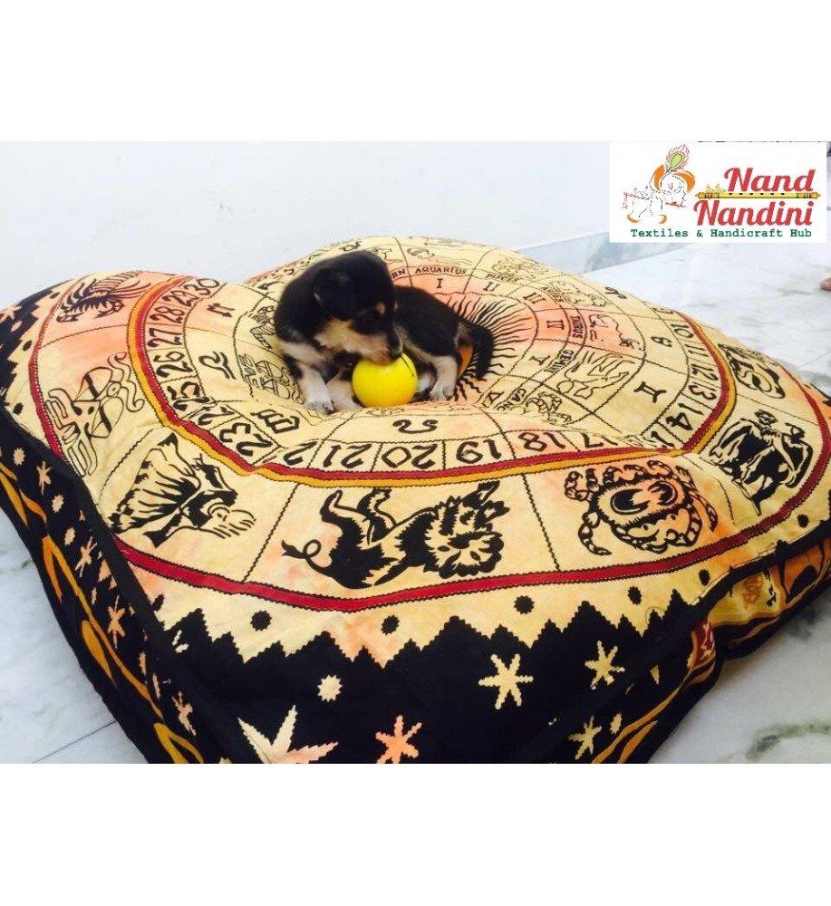 Indio Mandala tapiz perro cama, cojín, Boho suelo funda de almohada cojín de suelo, Boho Mandala, asiento, Boho Decor, Hippie Boho perro o gato funda de ...