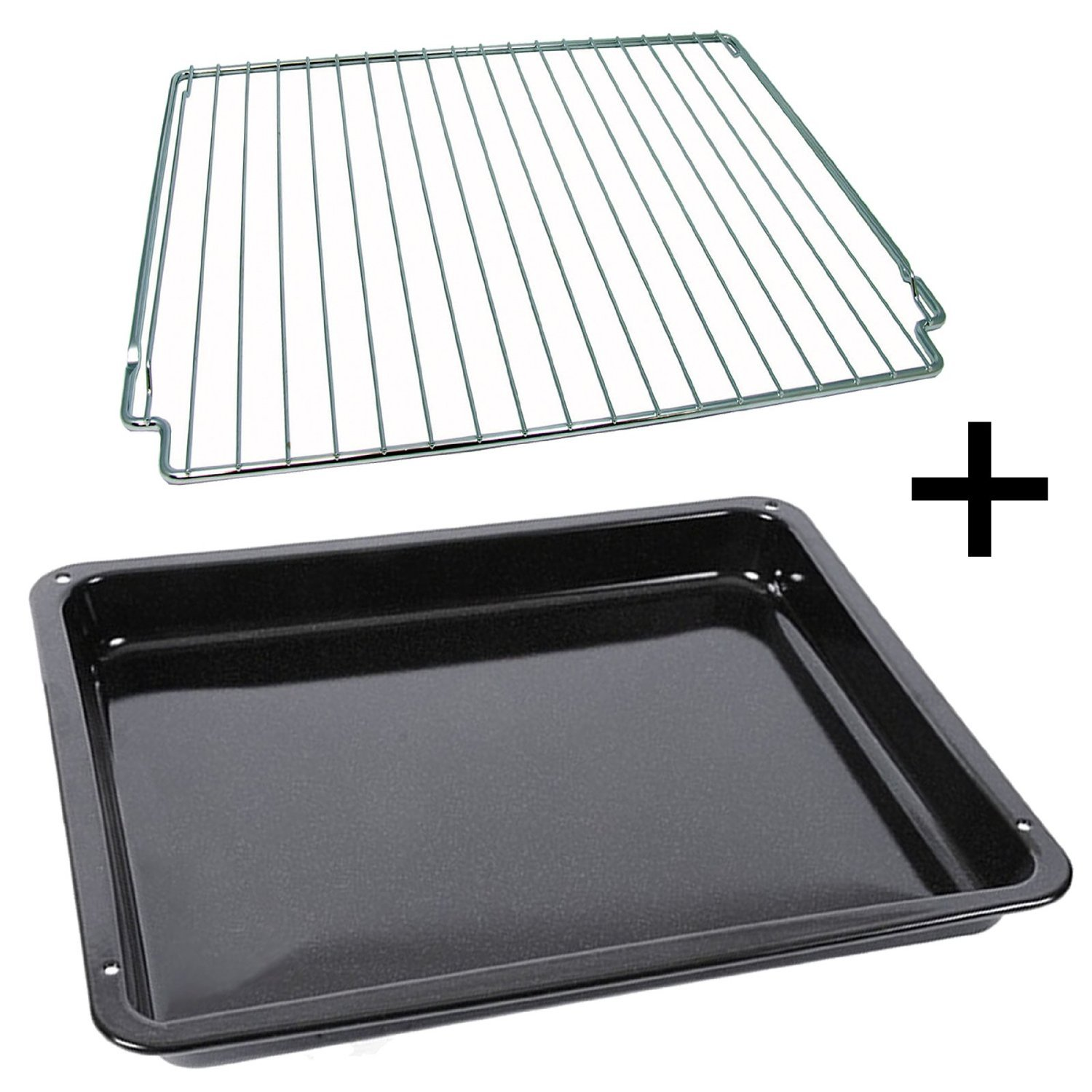 Electrolux Oven Cooker Enamel Drip Tray Pan + Grid Rack Stand (Genuine Part)