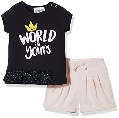 b2072d42a0d2 Amazon.com  Silly Apples Baby Unisex Cotton Blend 2-Piece Short ...