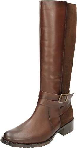 Carmela Suede Leather Flat Knee Boots