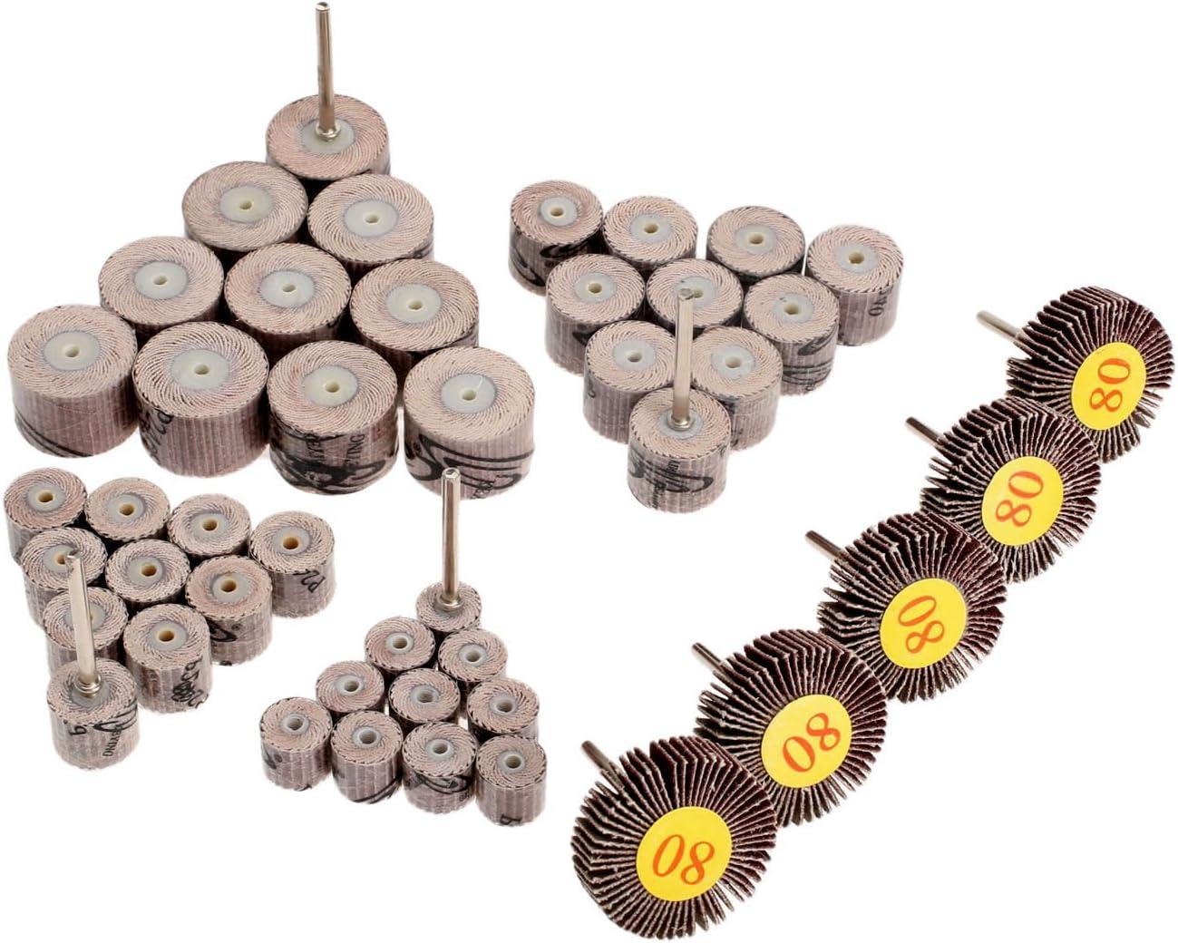 10pcs Sanding Sandpaper Flap Wheels Disc 80 Grit Grinding Polishing Rotary Tool