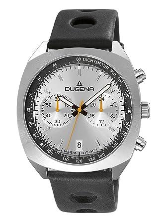 Dugena MineralglasEdelstahlgehäuseSilber4460881 Für Quarz Chronograph HerrenKemoraLederarmbandGehärtetes fYb7y6gv