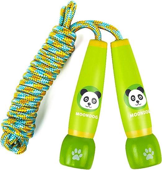 WeeLion 2 Cuerdas de Saltar para niños Cargados, Cuerda de algodón ...