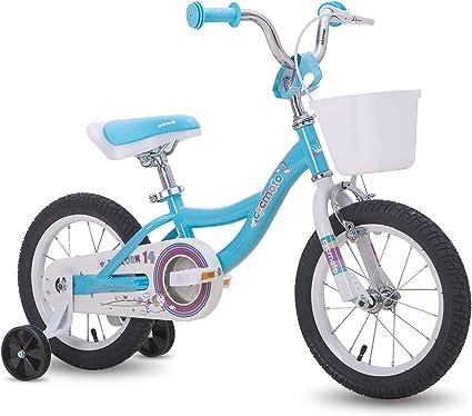 Girls Bike Kids BMX Bicycle Ride On Toy Steel Frame Black Pink w// Training Wheel