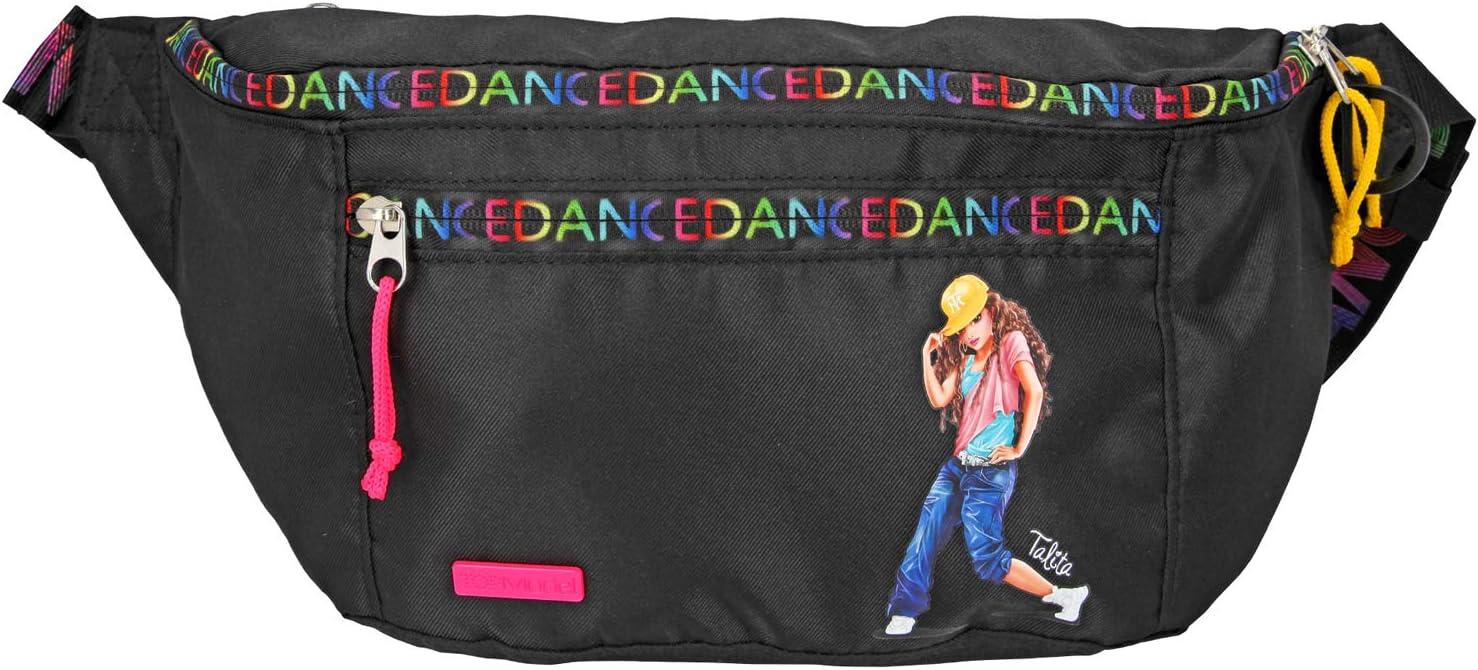 Depesche-DP-0010967 Riñonera TopModel Dance, Negro, Aprox. 10 x 20 x 40 cm, Color Rosa, Länge: 10 cm Breite: 34 cm Höhe: 24 cm (10967)