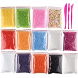 Glitter Powder Slime Containers with 3 Slime Tools for Slime Not Contain Slime OOTSR Slime Charms -30 Pack Slime Kit for Girls and Boys Contains Foam Balls Styrofoam Beads Fishbowl Beads