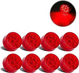 Partsam 8 Pcs Red 9 LED Light Trailer 2