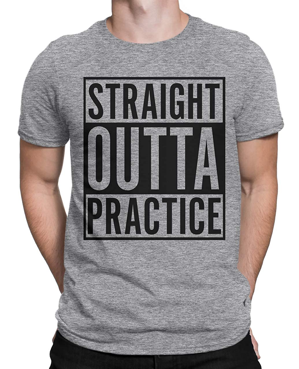 Tenacitee Mens Straight Outta Practice T-Shirt