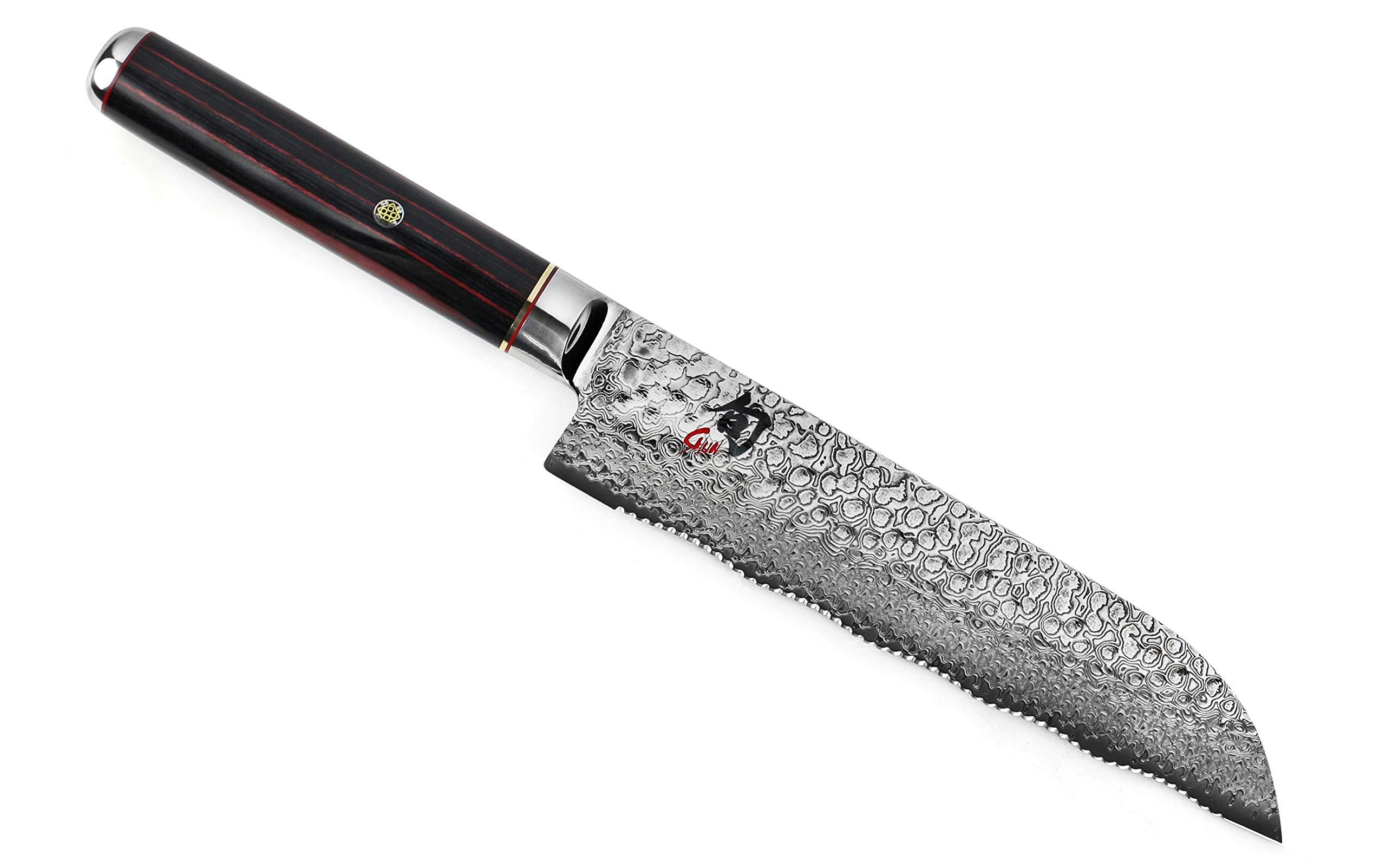 Shun Hiro SG2 7-inch Dual Density Serrated Utility Knife by Shun