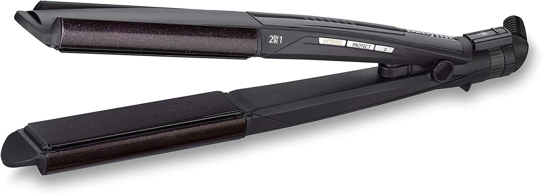 BaByliss Diamond Slim ST330E - Plancha de pelo, función I-curl para rizar, placas flotantes Diamond Ceramic, 6 temperaturas (140º - 235º)