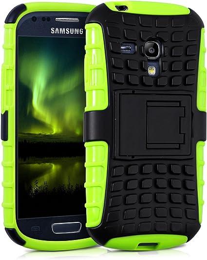 kwmobile 1x Funda híbrida con Soporte Compatible con Samsung Galaxy S3 Mini i8190 en Verde neón: Amazon.es: Electrónica