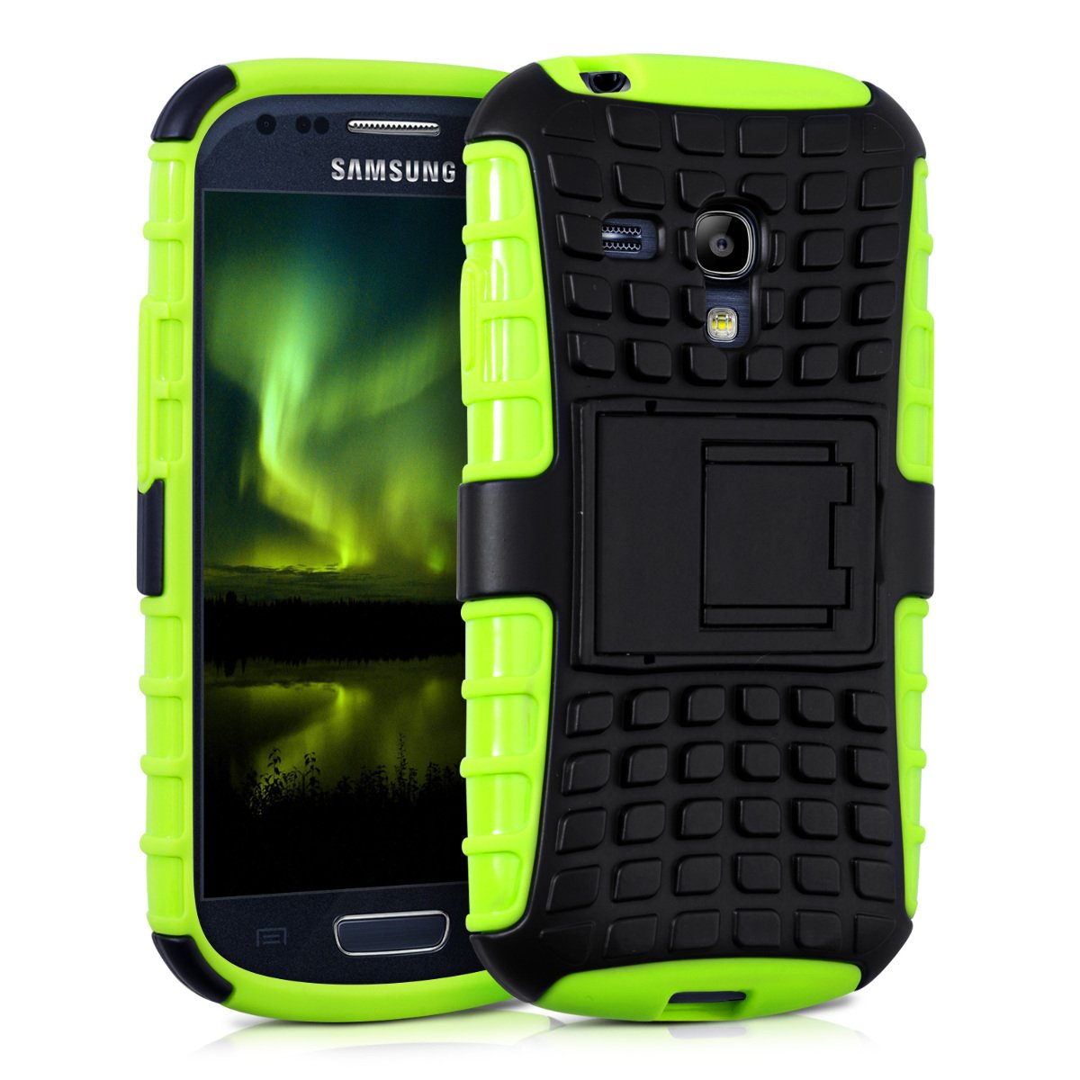 Amazon.com: kwmobile Hybrid case with Stand for Samsung ...