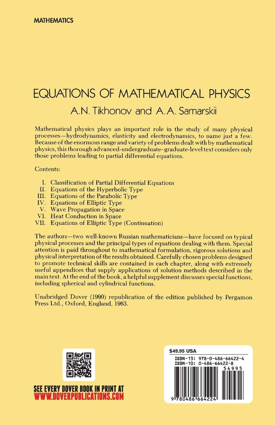 Equations of Mathematical Physics (Dover Books on Physics