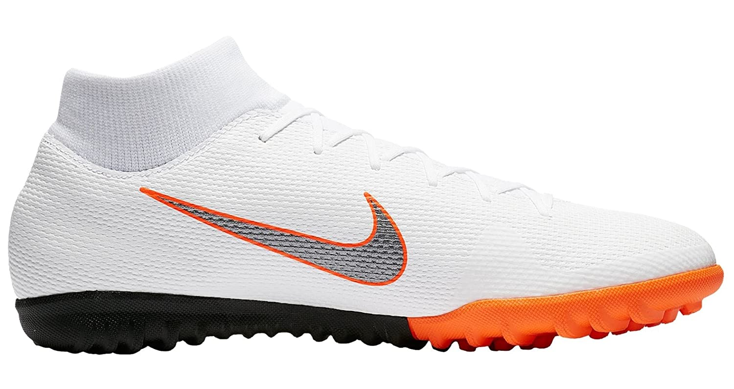 check out f300f 14ffe Nike Superflyx 6 ACADEMY TF White Mtlc Cool Grey Total Ora Size  13   Amazon.co.uk  Sports   Outdoors