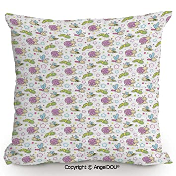 Amazon.com: AngelDOU Funda de almohada de lino de algodón ...