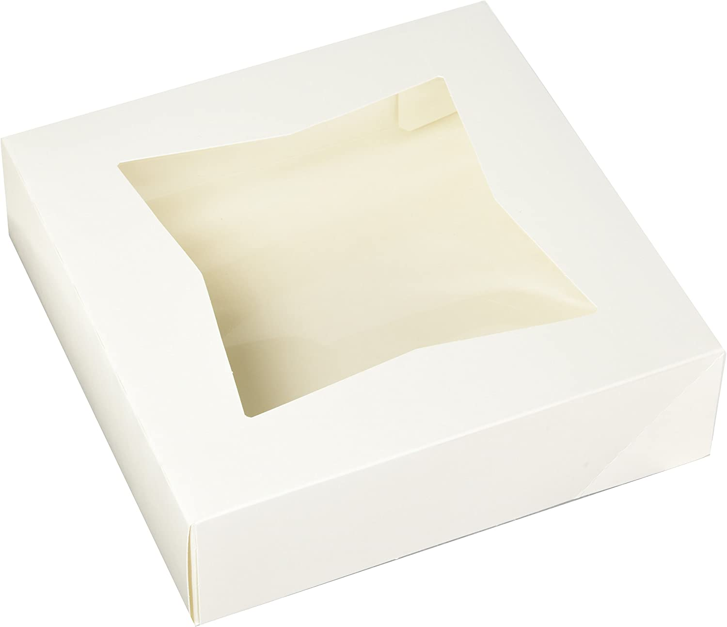 Chefible Extra Thick Durable Pie Box With Window, 9x9x2.5 Inches, Perfect for Pies and Pastries, Set of 12