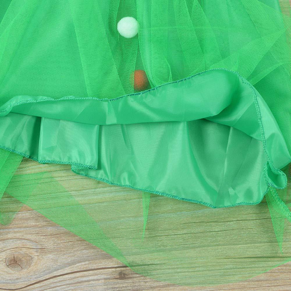 KONFA Toddler Baby Girl Christmas Sequins Hat Tutu Dress 0-4 Years,Little Princess Long Sleeve Skirt Xmas Clothes Set