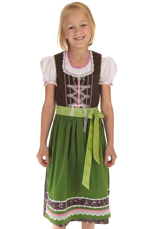 Spieth & Wensky Kinder Baumwolldirndl Kinderdirndl Dirndl Mädchen Kleid Tracht Mädchen