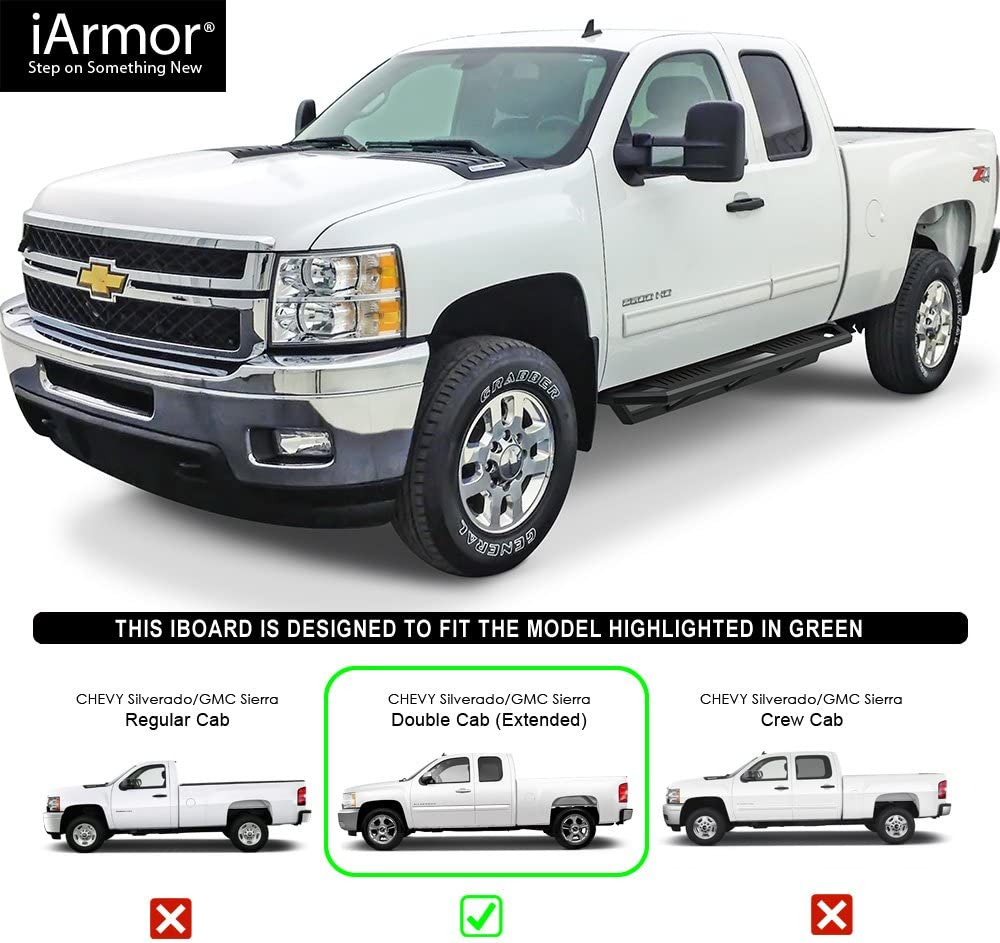 "iArmor 6.5/"" Side Armor Square for 01-07 Chevy Silverado//GMC Sierra Crew Cab"