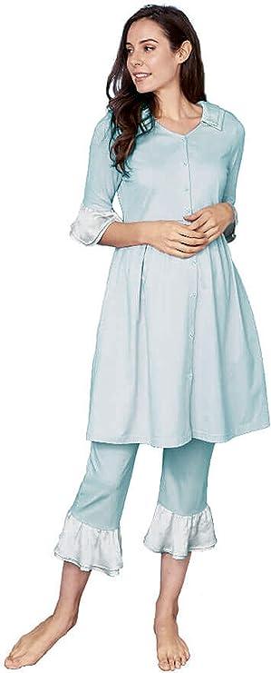 Vintage Nightgowns, Pajamas, Baby Dolls, Robes Sweet Mommy Maternity and Nursing Vintage Frills Pajama $53.90 AT vintagedancer.com