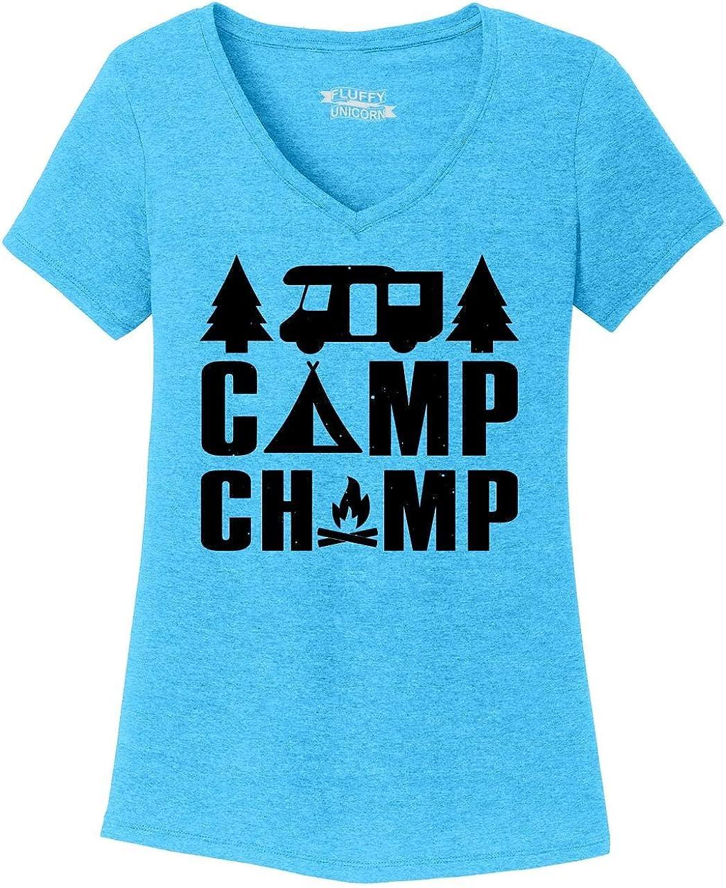Comical Shirt Ladies Camp Champ Triblend V-Neck