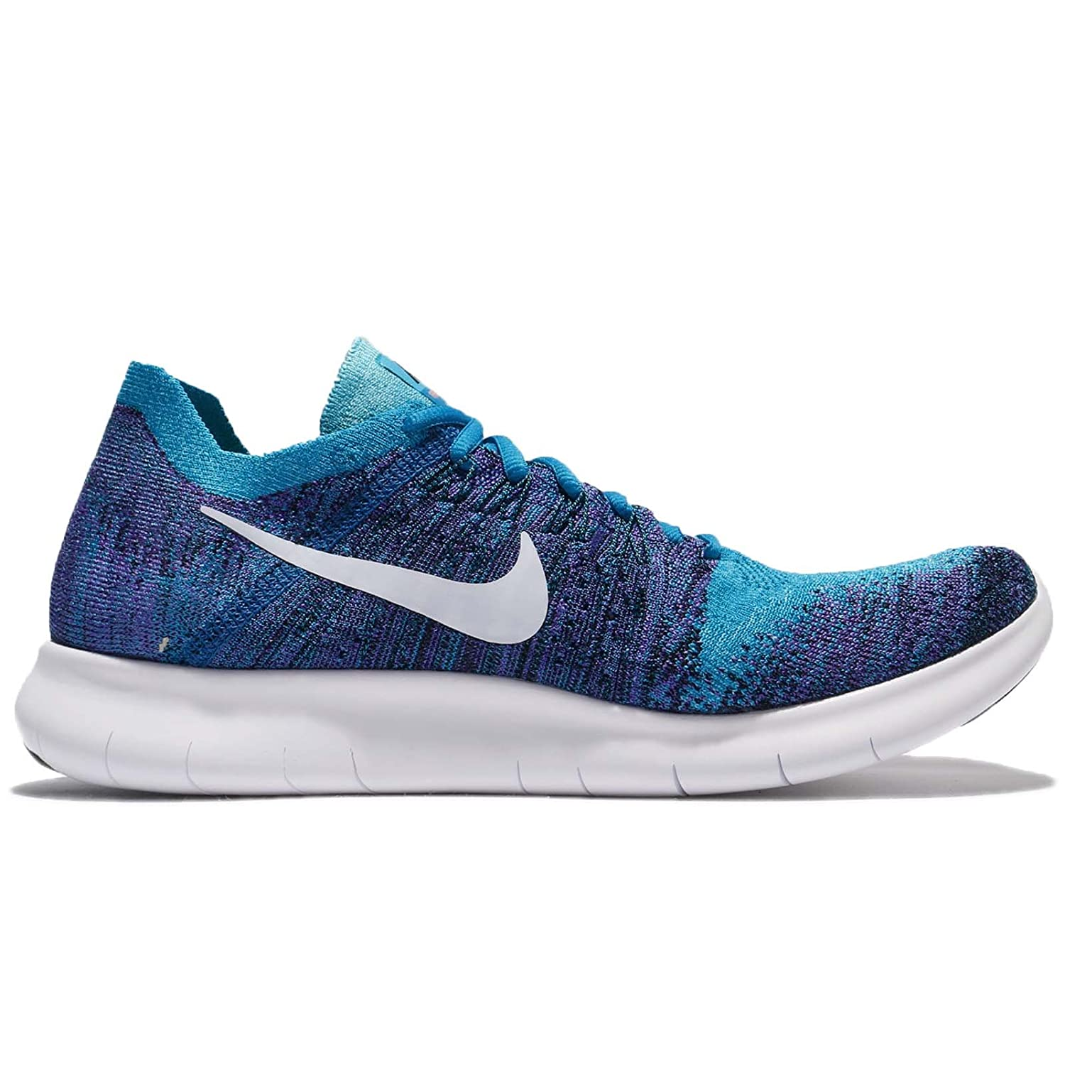 330ad3c67ebe ... discount amazon nike mens free rn flyknit 2017 blue orbit pure platinum  black 12.5 m us