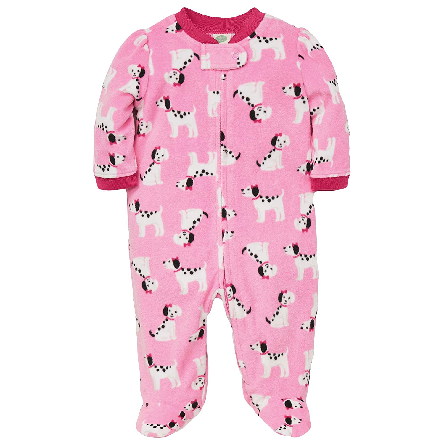 72021cd5bd74 Amazon.com  Little Me Warm Fleece Baby Pajamas Footed Blanket ...