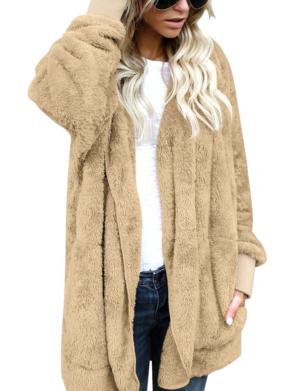 LookbookStore-Womens-Oversized-Open-Front-Hooded-Draped-Pockets-Cardigan-Coat