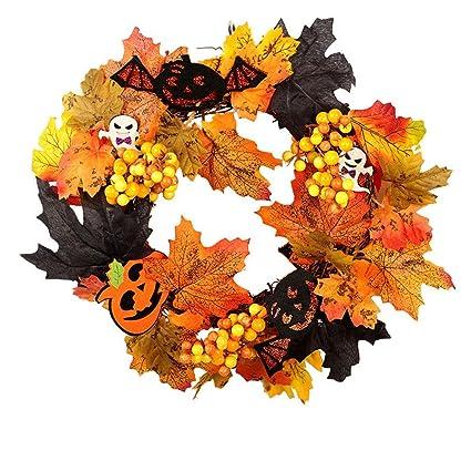 Halloween Pumpkin Front Door Wreath Decoration, Halloween Wreath Ornaments  Front Door Window Hanging Decorations Pumpkin