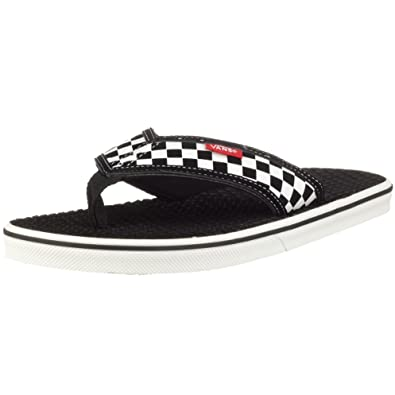 vans black and white checkerboard flip flops