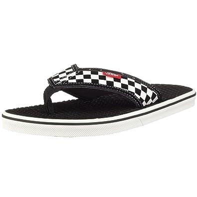 f0361752f62d6c Vans Men s La Costa Checkerboard Black White Flip Flop Sandal VFJCAPK ...