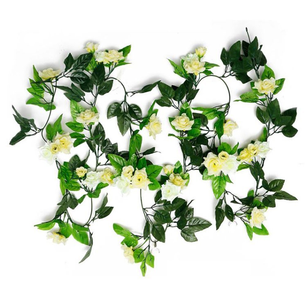 Amazon Remeehi 25m Artificial Flowers Ivy Roses Silk Flowers