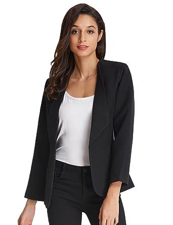 Kate Kasin Womens Long Sleeve Office Jacket Open Blazer Coats Kk470